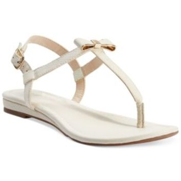 Bar III Bess Flat Thong Sandals | macys.com