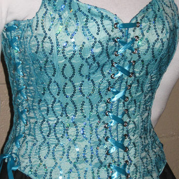 DDNJ Choose Fabric Reversible Bodice Style Corset Plus Custom Made ANY Size Renaissance Fairy Pirate Prom Wedding Anime Cosplay Medieval