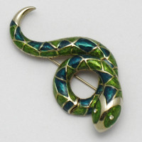 BOUCHER Vintage Figural Snake Serpent Brooch Pin