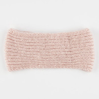 Sweater Knit Headwrap Light Pink One Size For Women 26408238001
