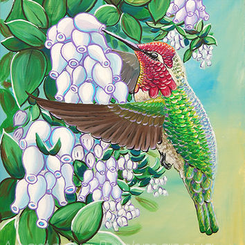 Anna's Hummingbird Original Painting