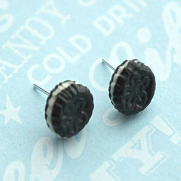 Oreo Cookies Stud Earrings
