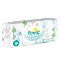 Pampers Sensitive Soft Pack Wipes - 18 Count
