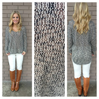Black Knit V-Neck Chelsea Sweater Top