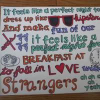 22 by Taylor Swift by Sharpielyrics98 on Etsy