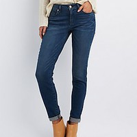 "REFUGE ""BOYFRIEND"" DARK WASH JEANS"