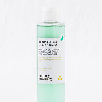 Truly Organic x Hemp Water Facial Toner, Green