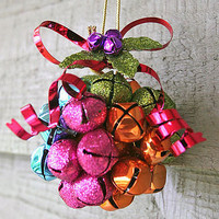 colourful jingle bell decoration by berry red | notonthehighstreet.com