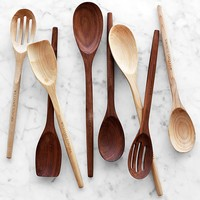 Williams Sonoma Walnut Wood Spoons, Set of 4
