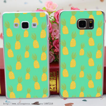 832wu Cute Pineapples Style Transparent Hard Case Cover for Samsung  Note 2 3 4 5 for Galaxy A3 A5 A7 A8 series