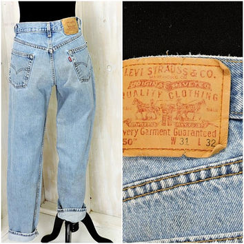 Vintage Levis 550 31 X 32 /  LEVI'S  high waisted straight jeans / Levi Strauss 550s relaxed fit mens jeans / womens boyfriend jeans