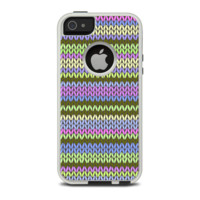 The Colorful Knit Pattern Apple iPhone 5-5s Otterbox Commuter Case Skin Set