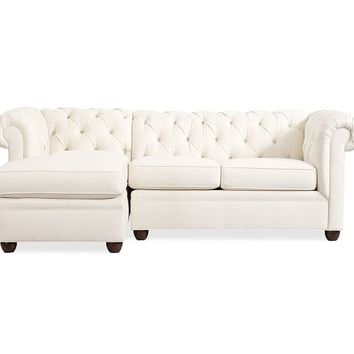 Chesterfield Upholstered 2-Piece Chaise Sectional