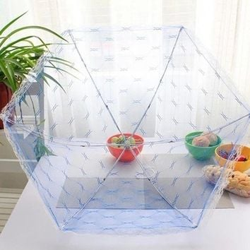 Kitchen Accessories Food Umbrella Cover Picnic Barbecue Party Sports Fly Mosquito Mesh Net Tent Anti Fly Mosquito Food Covers