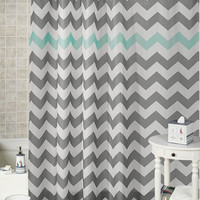 Chevron  special shower curtains that will make your bathroom adorable.