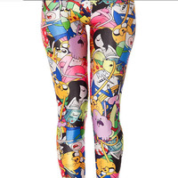 Adventure Time Bro Ball Leggings Digital Print Galaxy Pant Harajuku Leggings Yoga Legging