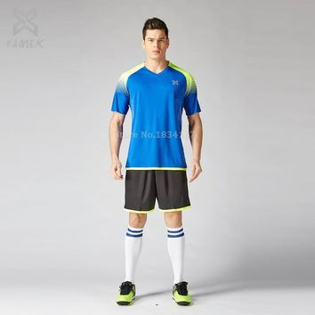 Soccer football 2017 2018 men soccer uniform Customized football uniforms custom soccer jerseys running kits suits adult new
