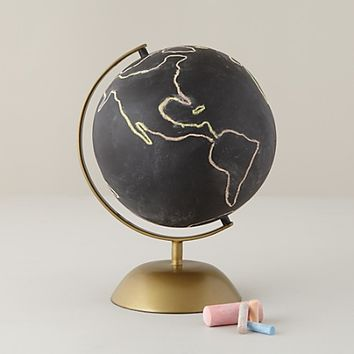 Chalkboard Globe (Gold Base) in Desk Accessories | The Land of Nod