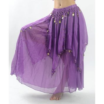 Belly Dance Costume Maxi Long Skirt Bollywood Indian Dress For Women 8 Colors (Just Skirt)
