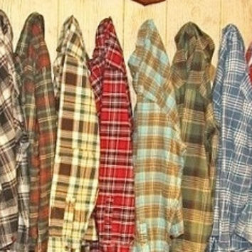 Mystery Vintage Soft Flannel Shirts, Mystery Flannels, All Colors & Sizes!!