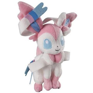 "Official Tomy Pokemon Sylveon 8"" Plush US Seller USA Authentic"