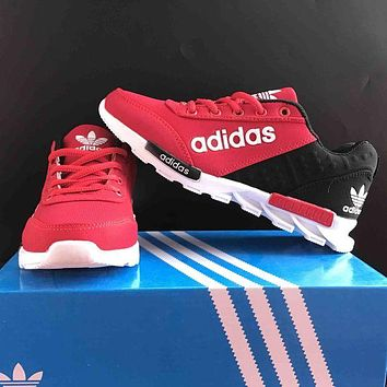 ADIDAS Fashion Women Men Personality Sneakers Sport Running Shoes Red I