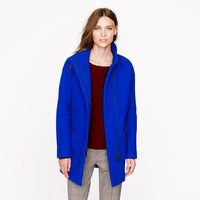 Stadium-cloth cocoon coat - wool - Women - J.Crew