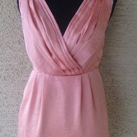 BCBG peachy pink top / very short dress sexy empire waist sleeveless never worn with tags from Bloomingdales silky feel SEXY! clubwear