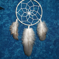 2.8 inch White Dreamcatcher - Car Rear View Mirror Decor - Hippie Boho Dream Catcher - Car Accessory - Wall Hanging Nursery Room Decoration