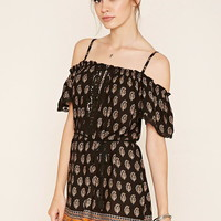 Ornate Open-Shoulder Dress