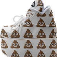 poop emoji platform shoes created by GossipRag | Print All Over Me