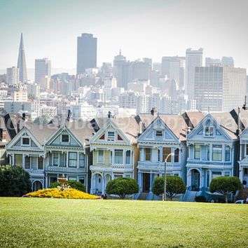 The Painted Ladies - Fine Art Photography Victorian Houses San Francisco California Classic Picture Urban