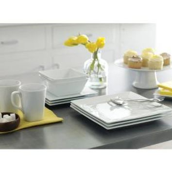 Square Rim 16pc Dinnerware Set White - Threshold™