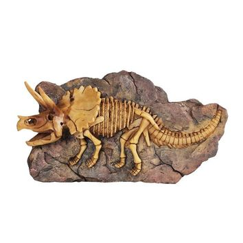 Skull Skulls Halloween Fall Dinosaur Fossil Triceratops Sculpture Collection Handmade Crafts Decoration Resin Dinosaur  Wall Hanging Calavera