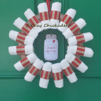 Baby Diaper Wreath Country Mason Jar