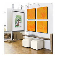 HUGE Painting , Over sized Custom 4 square Abstract wall art , Large abstract Painting, -Yellow, orange, Sunshine, sunny