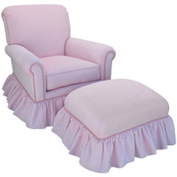 Angel Song 204721153Down Classic Velvet Pink Adult Regent Rocker Glider w/ Plush Down Cushion