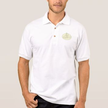 Surfer Dude Stand Up Paddle Oval Drawing Polo Shirt