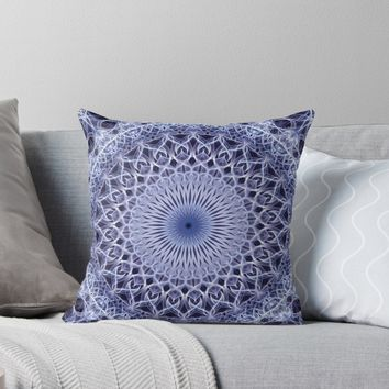 'Light blue mandala' Throw Pillow by JBlaminsky