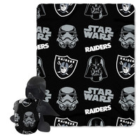 Oakland Raiders NFL Star Wars Darth Vader Hugger & Fleece Blanket Throw Set
