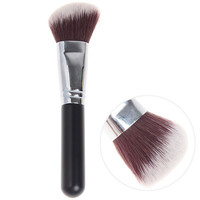 Oblique Copper Tube Brush Make-up Cosmetic Tools