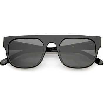 Men's Modern Street Wear Horned Rim Flat Top Sunglasses C935