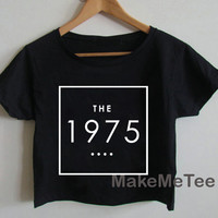 THE 1975 Band Indy Music Crop top Tank Top Women Black and White Tee Shirt - MM1