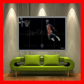 Michael jordan Fly Dunk print wall art Giant Poster 8 parts HH10006 S6