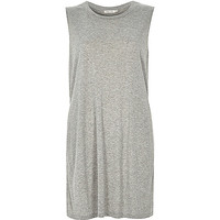 River Island Womens Grey sleeveless split side tank top