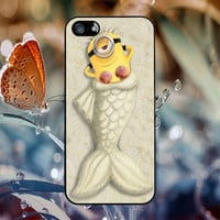 little minions as mermaid for iPhone 4/4S iPhone 5/5S iPhone 5C Samsung Galaxy S3 Samsung Galaxy S4 Samsung Galaxy S5