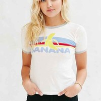 Truly Madly Deeply Banana Ringer Tee