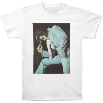 Elvis Presley Men's  Elvis Microphone T-shirt White