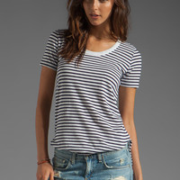 DemyLee Semi Sailor Stripe Top in White/Navy from REVOLVEclothing.com