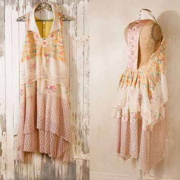Bohemian wedding dress 1920s wedding dress Beach by mynoush